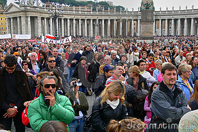 Vatican crowd people Editorial Image