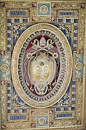 Vatican emblem Editorial Photo