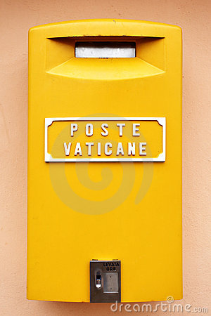 Vatican mail box Editorial Stock Image