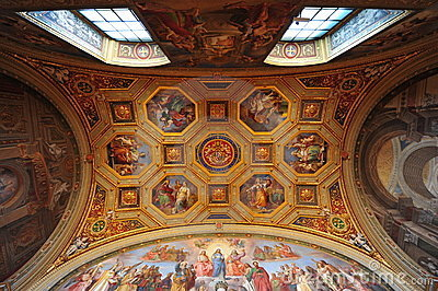 Vatican museum, ceiling frescoes Editorial Image