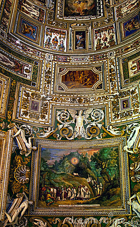 Vatican Museum Inside Map Room Rome Editorial Image