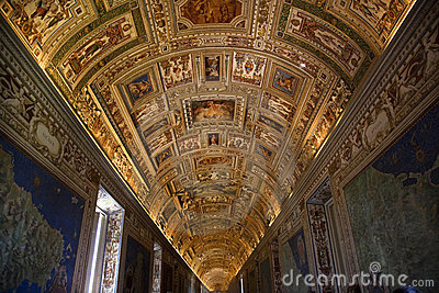 Vatican Museum Inside Map Room Rome Editorial Stock Photo
