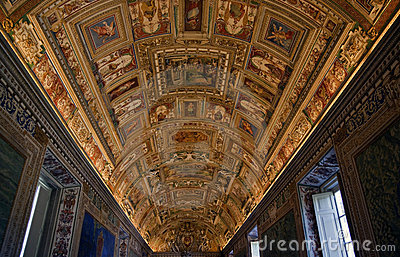 Vatican Museum Map Room Rome Editorial Photography