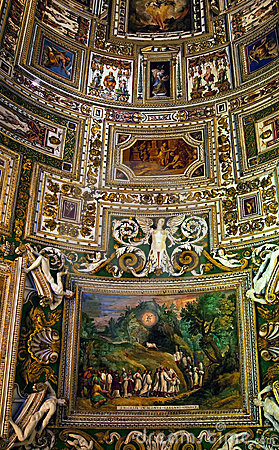Vatican Museum Map Room Rome Editorial Stock Photo