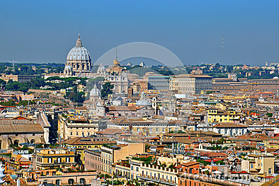 Vatican and Rome cityscape