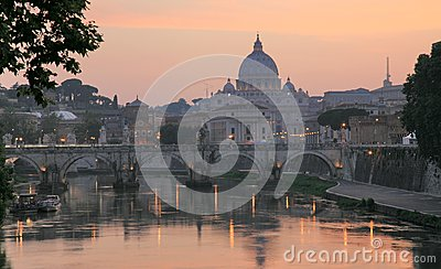 Vatican with Saint Peter s Basilica and Sant Angel