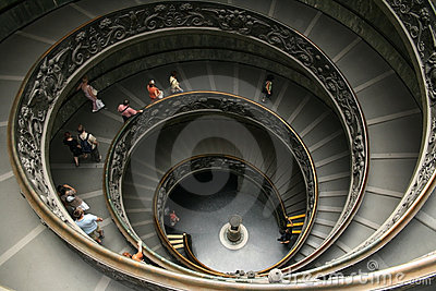 Vatican Staircaise Editorial Photography