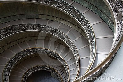Vatican Stairs Editorial Stock Image