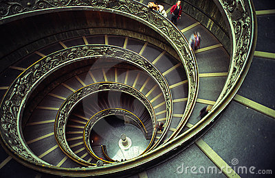 Vatican stairs Editorial Photo