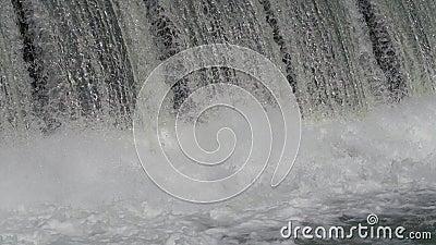 Vatten över fördämningen/makt (4K) lager videofilmer
