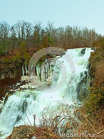 Vattenfall i vinter