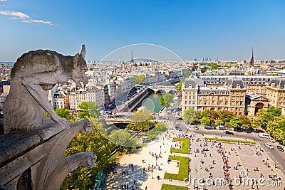 Vattenkastare på Notre Dame Cathedral