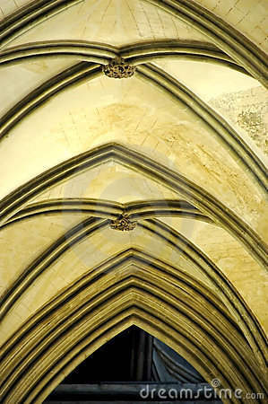 More similar stock images of ` Vaulted ceiling in a gothic cathedral `