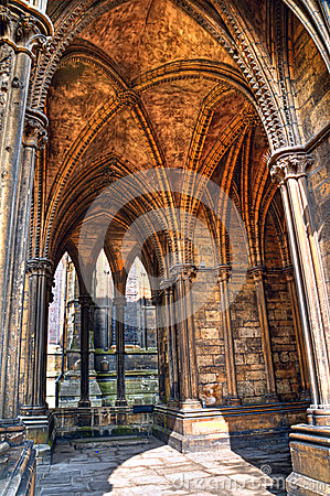 Vaulted cloister,  Lincoln Cathedral, England