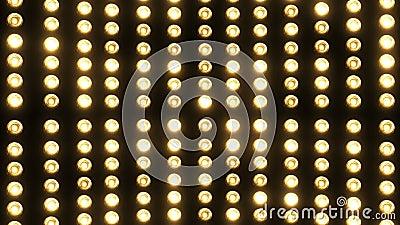 Vaya de fiesta las luces (lámparas que destellan) (+100 pedazos) almacen de video