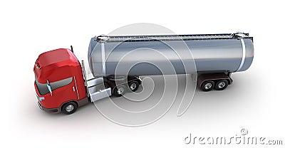 Veículo de entrega do tanque de petróleo