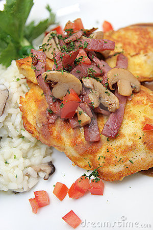 Veal Piccata With Risotto Rice
