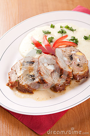 Free Veal Roulade Stuffed With Minced Meat Stock Photography - 36720802