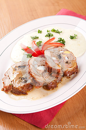 Free Veal Roulade Stuffed With Minced Meat Royalty Free Stock Photo - 36720815