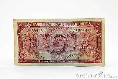 Vecchia fattura di valuta