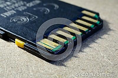 Vecchia scheda di memoria di deviazione standard
