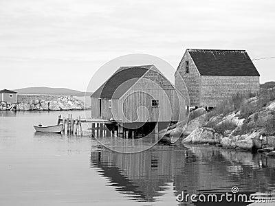 Vecchie baracche dei pesci