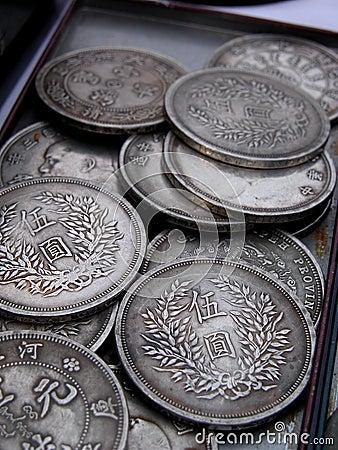 Vecchie monete giapponesi