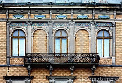 Vecchio balcone lungo