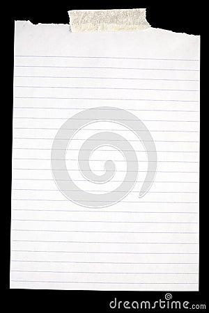 Vecchio documento allineato bianco.