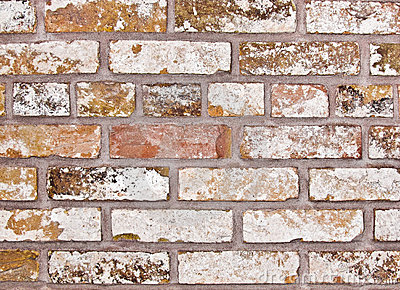 Vecchio muro di mattoni pallido