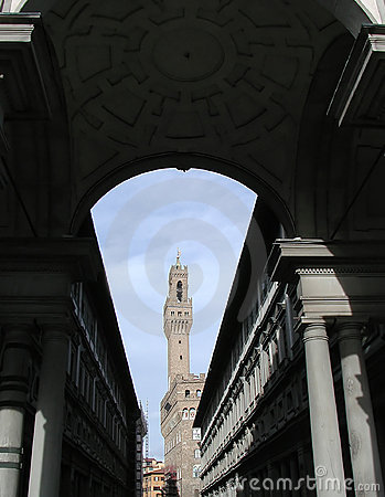 Vecchio palazzo дворца florence Италии старое