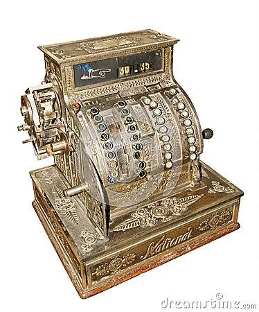 Vecchio registratore di cassa antico