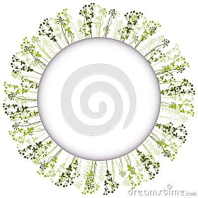 Vector floral round frame.