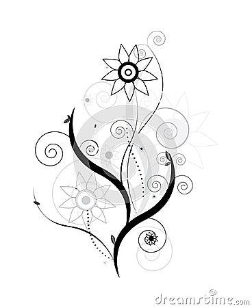 Vecteur de conception florale