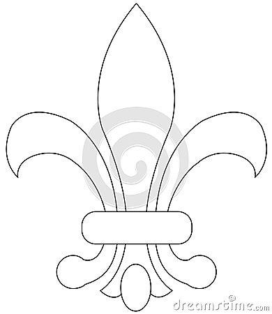 Vecteur de fleur de lys images stock image 8990994 - Symbole fleur de lys ...
