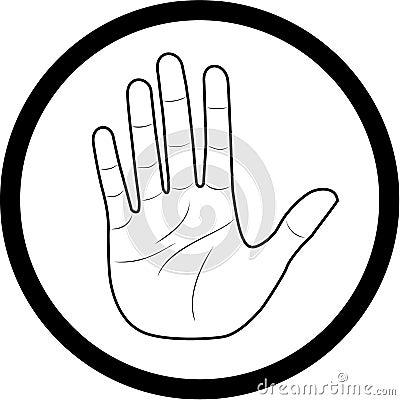 Vecteur de graphisme de main
