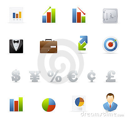 Vecto icon set - Business and Finance