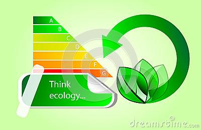 Vector ícones do eco da energia