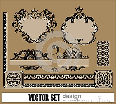 Vector комплект украшения