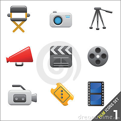Vector 1 van de film en media van het pictogram