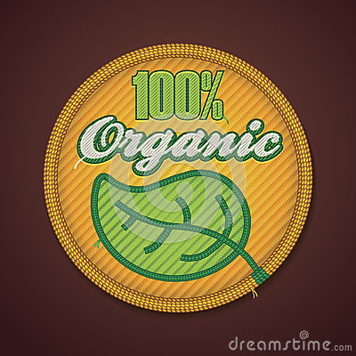 Vector 100  organic fabric badge