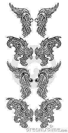иллюстрации демона ангела vector крыла