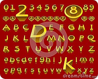Vector 3D Alphabet & Number