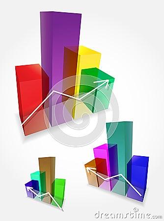 Vector 3d bar graphs