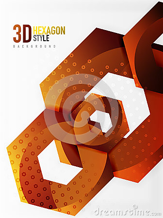 Free Vector 3d Hexagon Background Royalty Free Stock Photography - 94549327