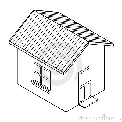 Vector 3d House Icon Vector Royalty Free Stock Image