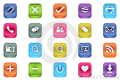 Vector 3d Quadrat Multimedia Inset Icons Vector 3
