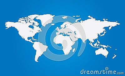 Vector 3d world map