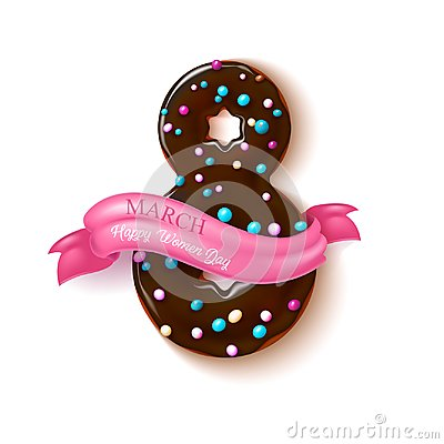 Free Vector 8 March Doughnut Women Day Holiday Stock Photo - 110121260