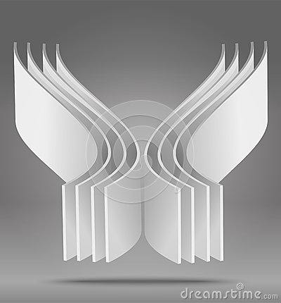 Vector abstract 3D object
